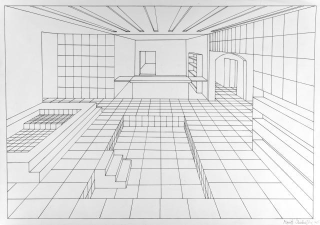 201516 Schulkunstthema Zeichnen 2015 Biberach Gekachelte Räume